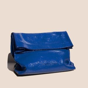 NWT Simon Miller large lunch bag in blue crackle
